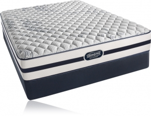 Simmons Beautyrest Recharge Silver Charcoal Coast Plush Pillow Top Mattress